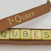 Bakelite, Vintage I Qubes Crossword Game