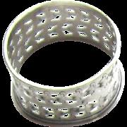 Vintage Sterling Silver Fleur De Lys Napkin Ring