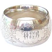 Antique Sterling Silver Pierced Napkin Ring - London,UK