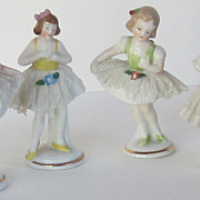 Four Antique Lacey Figurine Place Card Holders-Cozzi