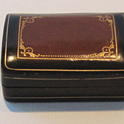 REDUCED Handsome Vintage Two Tone Leather Box