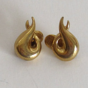 Vintage Givenchy Gold Tone Bold Earrings