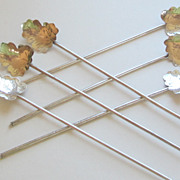 Six Sterling Silver Vintage Ice Tea Spoons