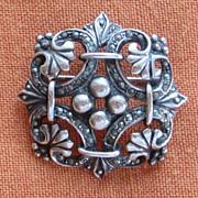 Lovely Vintage Sterling Silver, Marcasite Pendant/Brooch