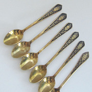 Set of Six Demitasse Spoons-Thailand