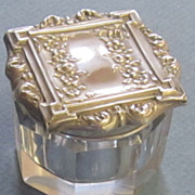 Victorian Sterling Silver and Glass Vanity Jar