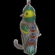Sterling Silver Parrot Pendant