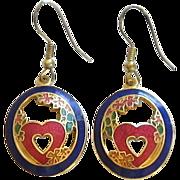 Cloisonne  Oval Earrings