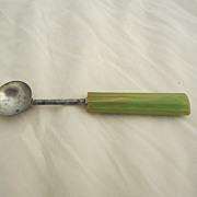 Green Bakelite Melon Ball Vintage Kitchen Utensil