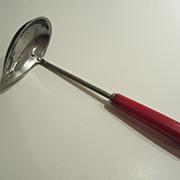 SALE Red Bakelite Pouring Ladle - Vintage Kitchen Utensil