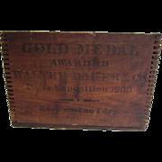 SALE PENDING Walter Baker & Co Dorchester MA Chocolate Box