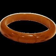 SALE Butterscotch Bakelite Carved Bangle Bracelet