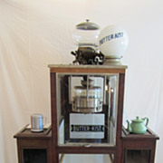 SALE 1920's Popcorn Machine with Butterkist Globe