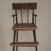 SALE 18th Century Salesman Sample High Chair
