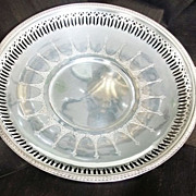 SOLD Vintage Wallace Silverplate Tray with Handles