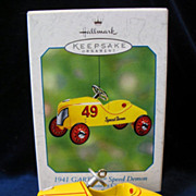 REDUCED Hallmark Ornament 1941 Garton Speed Demon Die-Cast Metal 2002 Winner Circle Pedal Car