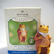 REDUCED Hallmark Ornament Mr. Jeremy Fisher Frog Beatrix Potter # 5 2000