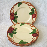REDUCED 4 Franciscan USA Apple Bread & Butter Plates Earthenware 6 1/2""