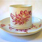 SALE Herend Pink & Gold Floral Ashtray & Cigarette Holder Smoke Set