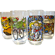 SOLD Vintage 1981 Set  McDonalds Great Muppet Caper Glasses Tumblers Henson