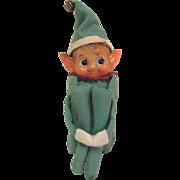 Vintage Christmas Musical Chimes Knee Hugger Pixie Elf Japan