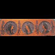 Antique Pyrography Native American Indian Maidens Hiawatha Wall Wood Burning Arts & Crafts ...