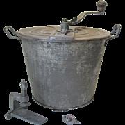 Antique Universal Bread Maker Dough Mixer NO. 4 Landers Frary & Clark Complete Tin Steel
