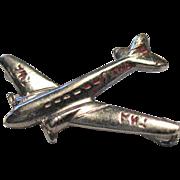 Vintage TWA Airlines Airplane Pin Propeller Plane