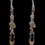 14K  Gold Ballet Shoes GF Music Note Pierced Earrings