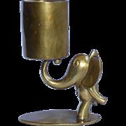 Carl Hagenauer Vintage Bronze Elephant Match Holder Striker Post 1914