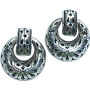 John Hardy Sterling Silver Door Knocker Clip Earrings