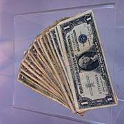 SALE PENDING 1957B Silver Certificate 15 bill lot
