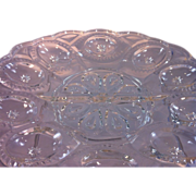 SOLD Tiffin Glass Egg Plate