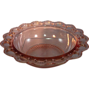 Hocking Glass Co. Open Lace Bowl and Plate set