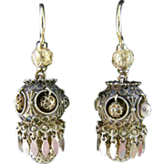 SOLD Victorian Etruscan Earrings in 14 Karat Yellow Gold.  Excellent Condition!