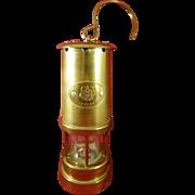 Vintage English Brass Oil Lantern Miner's Lamp