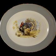 Homer Laughlin Cavalier Turkey Platter