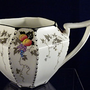 SHELLEY Queen Anne shape Creamer Peaches & Grapes Pattern
