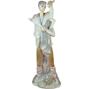 Lladro Boy With Goat 11 inch tall Porcelain Figurine