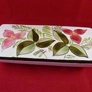 Stangl Pottery Cigarette Box Trillium Flower Design 3793 c. 1947-49