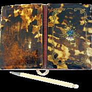 Faux Tortoise Shell, Gold Guilted Bronze Paua Shell inlaid Carnet de Bal – Dance Card ...