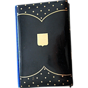 Faux Tortoise Shell Gold inlaid Card Case and Carnet - Napoleon III Era.