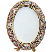 Vintage Micro Mosaic Oval Frame New Old Stock -Pristine-Rare - No 13