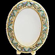 Vintage Micro Mosaic Oval Frame New Old Stock -Pristine-Rare - No 14