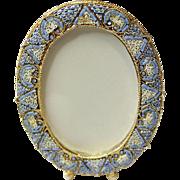 Vintage Micro Mosaic Oval Frame New Old Stock -Pristine-Rare - Medium -Big