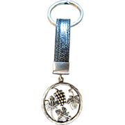 Sterling and Leather Key Chain