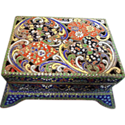 Cloisonne Enamel Playing Card Box