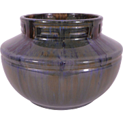 Fulper Green, Blue and Brown Lustre glaze Vase