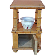 French Faux Bamboo Commode with chamber pot - doll furniture