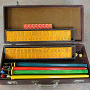 Vintage EASTERN SITTING SPARROW Mah Jong game - ready for NMJL play out of the box ...